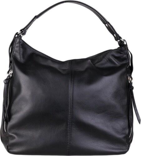 c9ef8839dfef ... Talianske kožené luxusné kabelky cez plece čierne veľké Amelia
