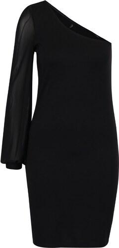 Černé asymetrické šaty s průsvitným rukávem ONLY Victoria - Glami.cz 65031042e2