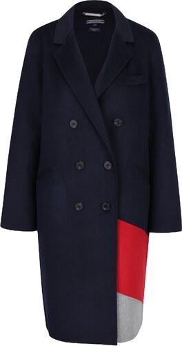 Modrý dámsky tenký vlnený kabát Tommy Hilfiger - Glami.sk 68f4b8fe8e