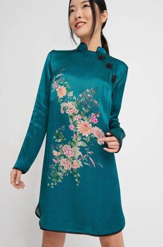 Orsay Saténové šaty v japonském stylu - Glami.cz 172cee447a