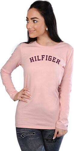 b0f74cb34fd3 Tommy Hilfiger Dámske tričko s dlhým rukávom Cotton Iconic Tee Ls Logo  UW0UW00373-625 Silver