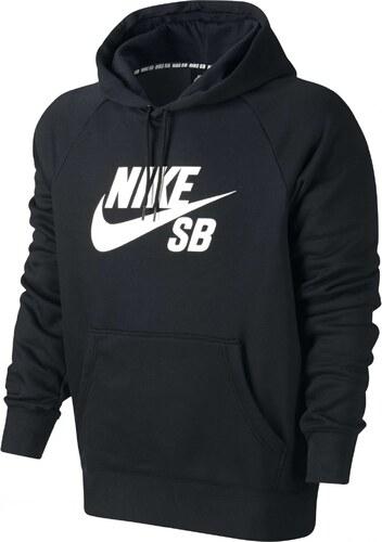 58ea4d7183a Pánská mikina Nike SB ICON PO HOODIE BLACK WHITE - Glami.cz