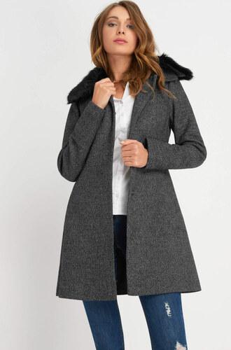 Orsay Kabát s kožušinovým golierom - Glami.sk 78b54954e3e