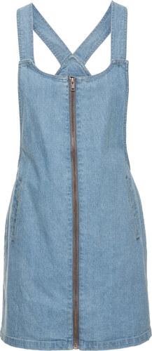 c17b10ee0723 Bonprix Džínsové šaty na traky so zapínaním na zips - Glami.sk