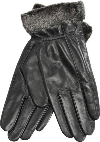 Baťa Kožené dámske rukavice s kožušinkou 7aa88f1739