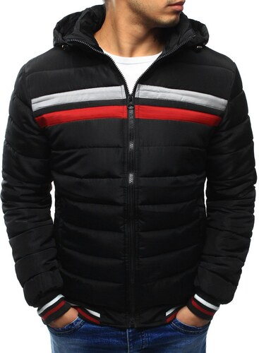 Čierna prešívaná pánska zimná bunda - Glami.sk 054d101bc38