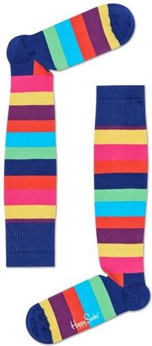 Pestrobarevné pruhované kompresní podkolenky Happy Socks e3a724f66d