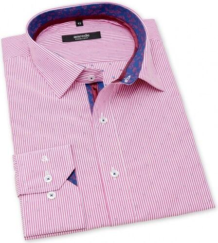 c8478b4bb35c Ružová pánska košeľa Anrede dlhý rukáv 5511 - Glami.sk
