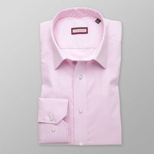 67e93df0601 Willsoor Pánská slim fit košile (výška 176-182) 8546 v růžové barvě ...