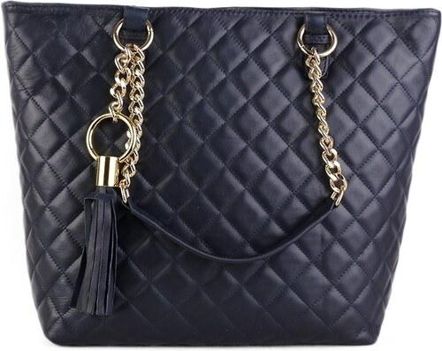 179ea3b8a2 Talianske kožené kabelky luxusné na plece Mirta modré - Glami.sk