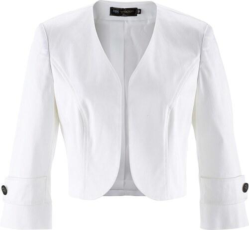 bpc femme blanc manches boléro Veste pour selection 34 Bonprix A4qwOfZ