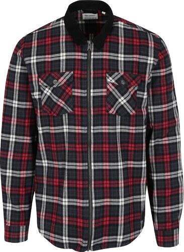 Modro-červená károvaná košile Shine Original - Glami.cz b8c0a19174