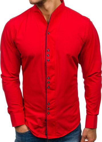 Pánská červená košile s dlouhým rukávem Bolf 5720 - Glami.cz 5f906b4b3c