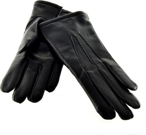 54017e5d668 Bohemia gloves Klasické černé pánské kožené rukavice s podšívkou ...