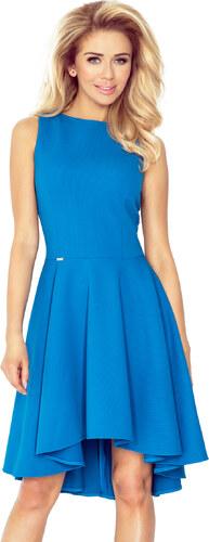 223192310e4 numoco Luxusní dámské společenské a plesové šaty s asymetrickou sukní modré
