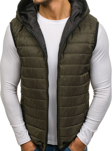Zelená pánska vesta s kapucňou BOLF AK87 - Glami.sk ba7eba1c41f