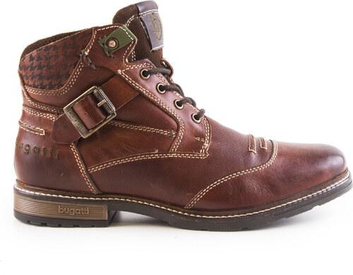 Bugatti - Pánské kožené kotníkové boty s kožichem 22a353ab75