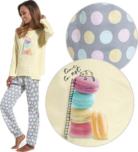 Cornette Macaron-os pizsama - Glami.hu 2b4680a996