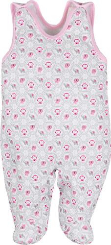 Koala Baby Állatos rózsaszín-szürke ujjatlan rugdalózó - Glami.hu 31819cffba