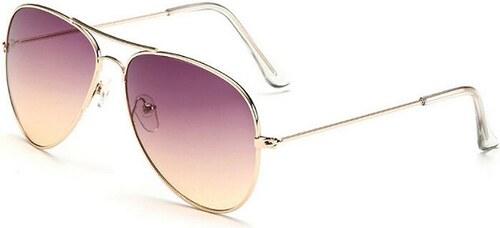 Sunmania Pilotky okuliare 017 fialovo-béžové 38735d08054