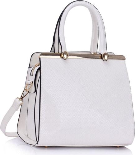 a811491db0 Larabags lakovaná kabelka Hilary biela - Glami.sk
