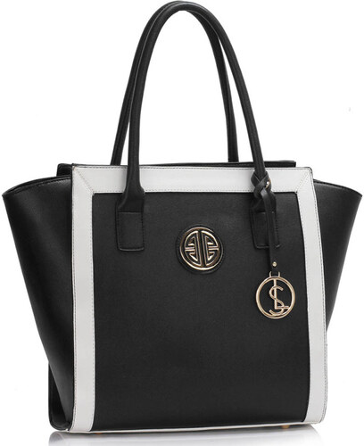 26f87d5e83 Anna Grace Larabags kabelka s príveskom Elise čierno-biela - Glami.sk