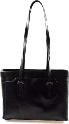 Kožená čierna kabelka cez rameno Liones VERA PELLE - Glami.sk aa0792ba8b2