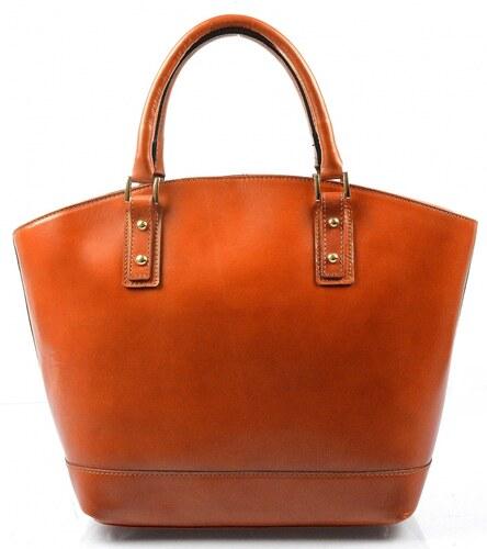 accd49bf59 -10% Kožená luxusná veľká mahaganovo hnedá kabelka Clasic VERA PELLE