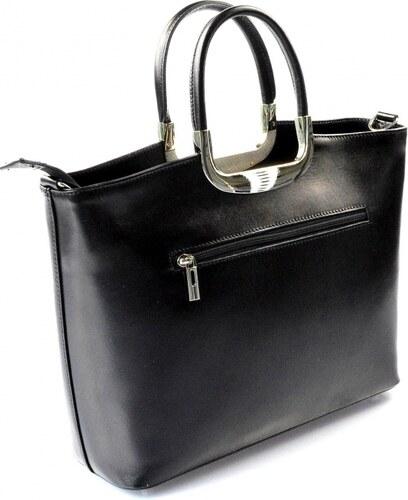2475d428fbb8 Kožená luxusná čierna kabelka AMELIA VERA PELLE - Glami.sk