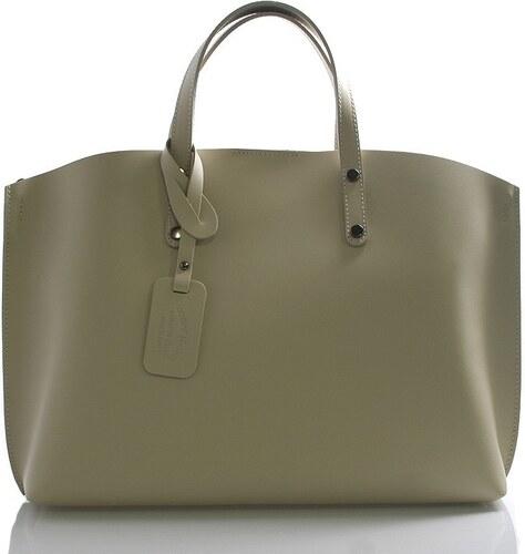 87273f7bb7 Kožená béžová veľká taška Tanie 2v1 VERA PELLE - Glami.sk