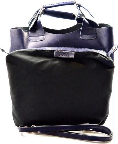 Kožená modrá kabelka do ruky 2v1 sandi VERA PELLE - Glami.sk cff20105be6