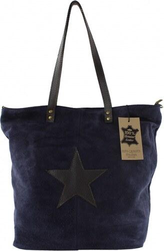 Kožená modrá taška cez rameno melisa VERA PELLE - Glami.sk 71922dc7a98