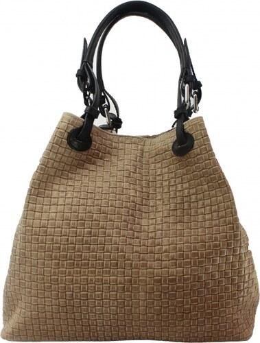 Kožená béžová kabelka cez rameno madeleine VERA PELLE - Glami.sk 6e1e396734c