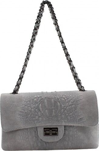 Kožená sivá listová kabelka limet VERA PELLE - Glami.sk 10d9c7e15e6