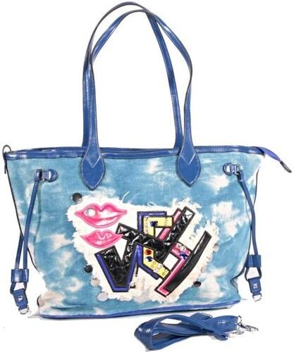 Extravagantní modrá kabelka Hana 4B - Glami.cz be62efd5cc4