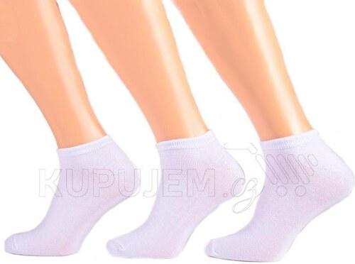 Afrodit Pánské nízké bílé ponožky z bambusu I4b 40-44 - Glami.cz 7de92e558b