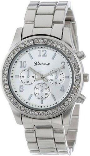 Beyou Hodinky Geneva Diamonds s kovovým stříbrným páskem - Glami.cz 47ab0d6fb3c