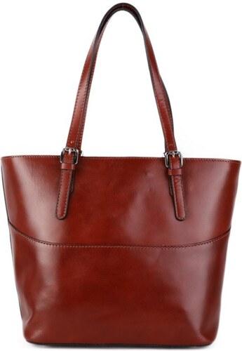 Talianske kožené kabelky luxusné do ruky Darina koňakové 3b8d85844f7