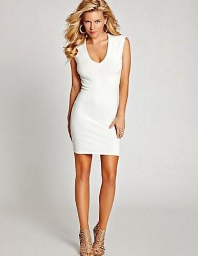 4160fff1e Šaty Guess Cap Sleeve Lace Back Body-Con Dress bílé - Glami.cz