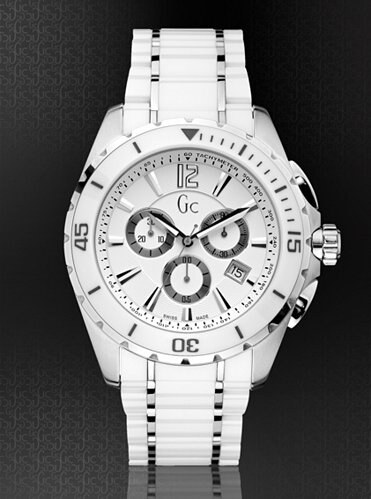 Pánské hodinky Guess GC Sport Class XXL Ceramic Timepiece bílé ... 2c633d40eb