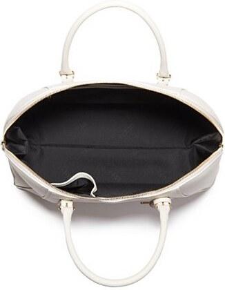 3ceedc8039 Kožená kabelka Guess Lady Luxe Leather Dome Sacthel bílá - Glami.cz
