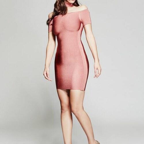 4107893f271 Šaty Guess by Marciano Isabeli Bandage Dress růžové - Glami.cz