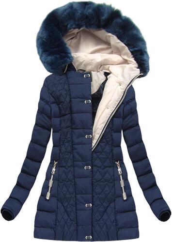 Dámska zimná bunda W669 modrá - Glami.sk e31b4b3b087
