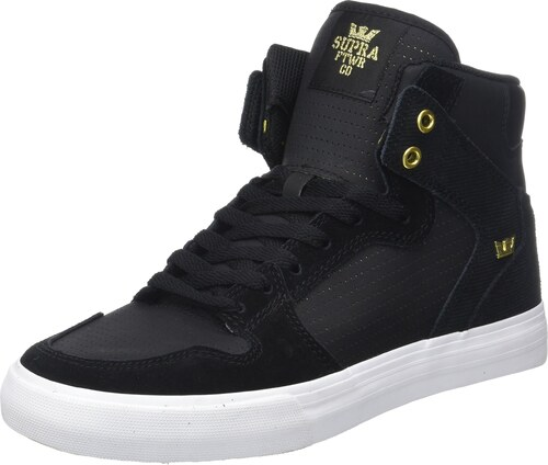 supra herren vaider sneaker schwarz black gold 40 eu. Black Bedroom Furniture Sets. Home Design Ideas