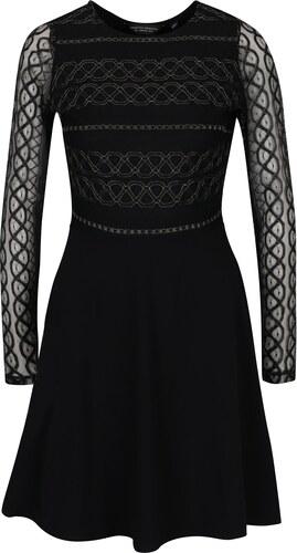 3e8b77bb628c Čierne šaty s priesvitnými rukávmi Dorothy Perkins - Glami.sk