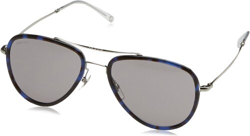 gucci herren gg 2245 n s sonnenbrille 57 mm havana blau. Black Bedroom Furniture Sets. Home Design Ideas