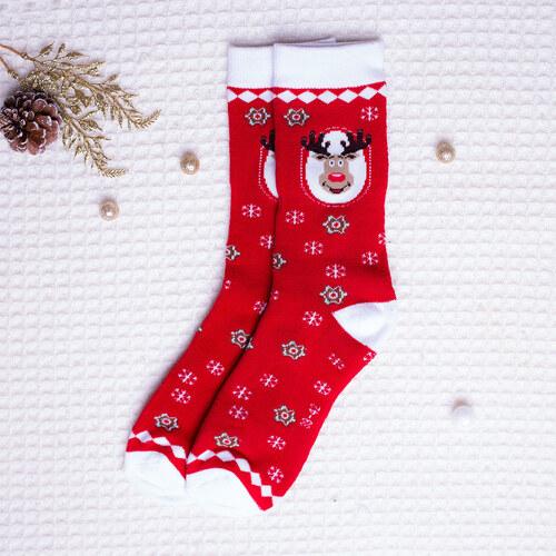 Star Socks Vánoční ponožky Reindeer červené - Glami.cz b7ef7e933a