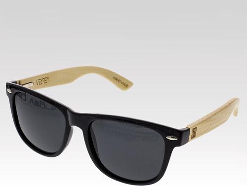 VeyRey drevené slnečné polarizačné okuliare Conifer čierne sklá ... 88a41095c61