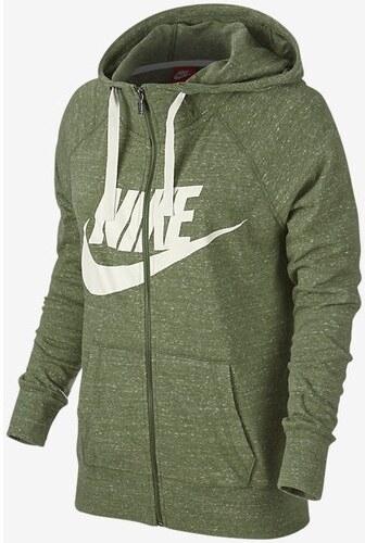 NIKE - mikina Sportswear Vintage Gym HOODIE FZ GX olive Velikost  S ... 4c27286ad47
