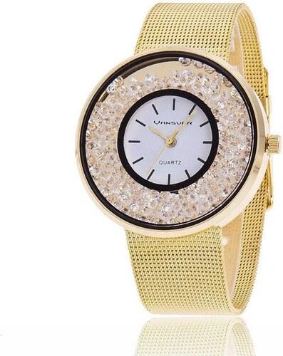 Shim Watch Svar Dámské kovové hodinky s kamínky zlaté - Glami.cz 5ad4b881bd